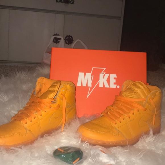 big sale a98ee e23b1 Nike Jordan Gatorade 1's Orange Size 10.5